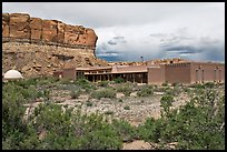 Visitor center. Chaco Culture National Historic Park, New Mexico, USA ( color)