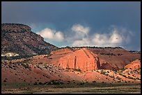 Red cliffs and dark sky. New Mexico, USA (color)