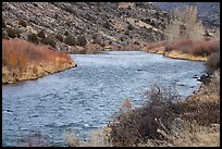 Rio Grande River in winter. Rio Grande Del Norte National Monument, New Mexico, USA ( color)