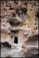 Cave cliff dwelling. Bandelier National Monument, New Mexico, USA ( color)