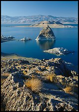 Pyramid and Pyramid Lake. USA ( color)