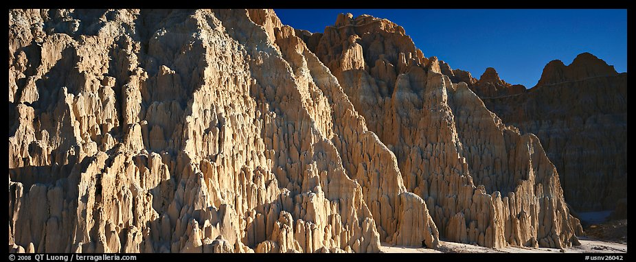 Desert erosion formations. Nevada, USA (color)