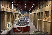 Generator gallery on the Nevada side. Hoover Dam, Nevada and Arizona ( color)