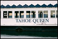 Side of Tahoe Queen boat with mountains seen through, South Lake Tahoe, Nevada. USA ( color)