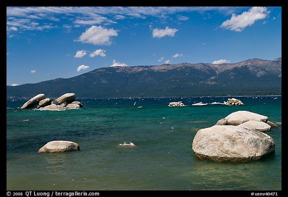 Boulders, Sand Harbor, Lake Tahoe-Nevada State Park, Nevada. USA (color)
