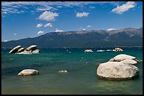 Boulders, Sand Harbor, Lake Tahoe-Nevada State Park, Nevada. USA ( color)