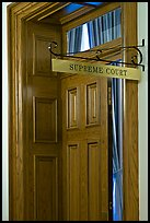 Door to Nevada Supreme court. Carson City, Nevada, USA ( color)