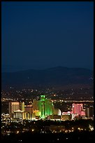 Reno skyline at night. Reno, Nevada, USA ( color)