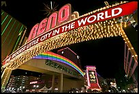 Biggest little city in the world neon sign. Reno, Nevada, USA ( color)