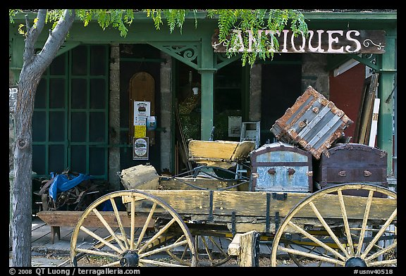 Antique store. Genoa, Nevada, USA (color)