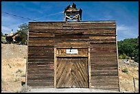 Wooden shack. Virginia City, Nevada, USA (color)