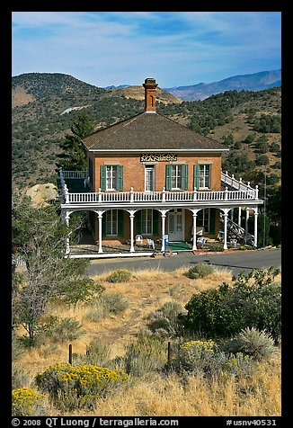 MacKay Mansion. Virginia City, Nevada, USA (color)