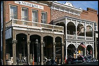 Territorial enterprise historical building. Virginia City, Nevada, USA (color)