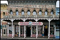 Old hardware store building. Virginia City, Nevada, USA (color)