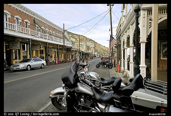 Main street. Virginia City, Nevada, USA (color)
