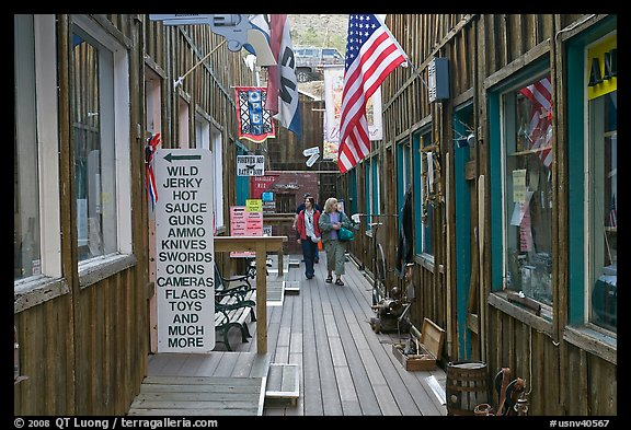 Alley. Virginia City, Nevada, USA (color)