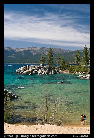 Sandy Cove, Lake Tahoe-Nevada State Park, Nevada. USA (color)