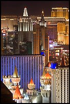 Las Vegas hotels seen from above at night. Las Vegas, Nevada, USA ( color)