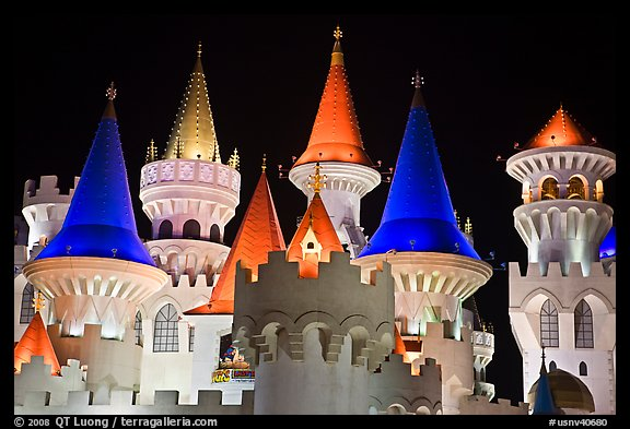 Castle-like Excalibur. Las Vegas, Nevada, USA (color)