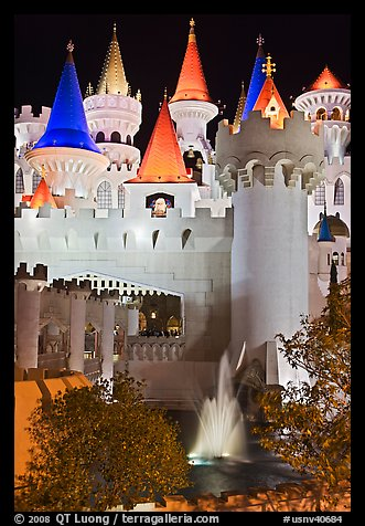 Excalibur. Las Vegas, Nevada, USA (color)