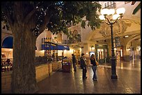 Man and woman standing on plaza inside Paris casino. Las Vegas, Nevada, USA ( color)