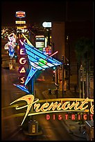 Neon lights in East Fremont district. Las Vegas, Nevada, USA ( color)