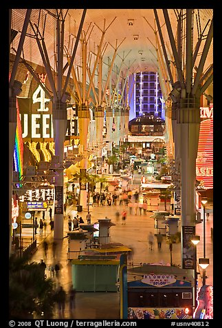 Fremont street experience, downtown. Las Vegas, Nevada, USA (color)