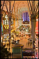 Fremont street experience, downtown. Las Vegas, Nevada, USA ( color)
