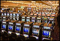 Rows of slot machines. Las Vegas, Nevada, USA ( color)