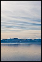 Blue mountains and clouds, winter, Lake Tahoe, Nevada. USA