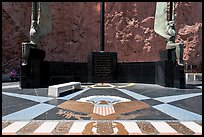 Dedication plaza. Hoover Dam, Nevada and Arizona (color)