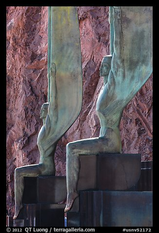 Close-up of Winged Figures of the Republic statues. Hoover Dam, Nevada and Arizona (color)