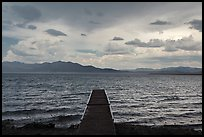 Deck, incoming storm. Pyramid Lake, Nevada, USA ( color)