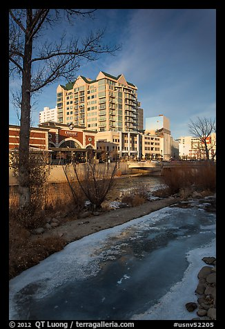 Truckee River in winter. Reno, Nevada, USA (color)