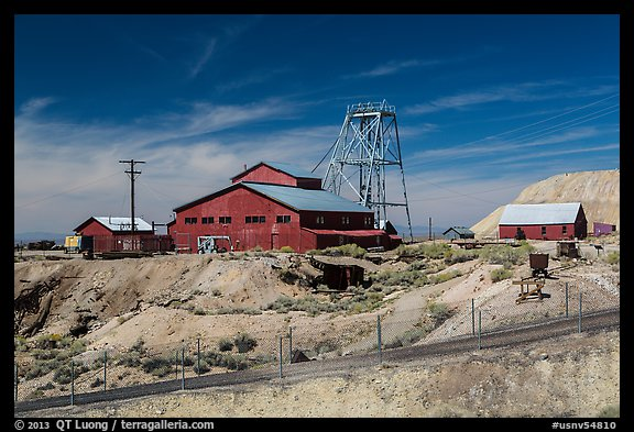 Historic mine. Nevada, USA (color)