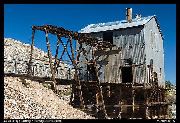 Historic mining building. Nevada, USA (color)