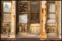 Facade of boarded-up store, Eureka. Nevada, USA ( color)