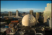 Skyline with Silver Legacy dome. Reno, Nevada, USA ( color)