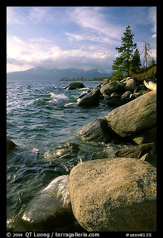 Rocks on the North-East shore of Lake Tahoe, Nevada. USA (color)