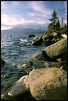 Rocks on the North-East shore of Lake Tahoe, Nevada. USA