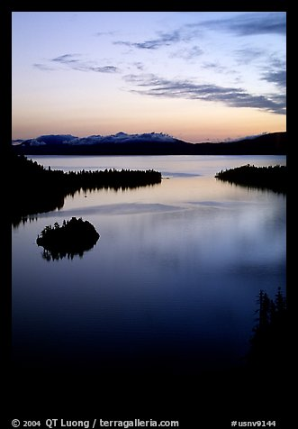 Emerald Bay, dawn, Lake Tahoe, California. USA (color)