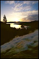Eagle Falls,  Emerald Bay, sunrise, South Lake Tahoe, California. USA