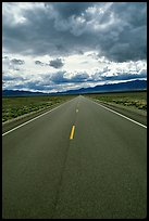 Road converging to the horizon. Nevada, USA ( color)