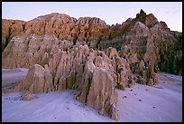 Erosion formation in the soft bentonite clay, Cathedral Gorge State Park. Nevada, USA (color)