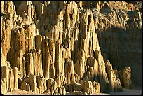 Cathedral-like spires, Cathedral Gorge State Park. Nevada, USA (color)
