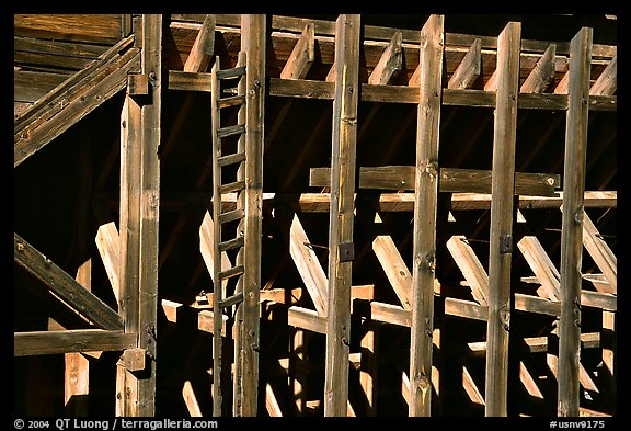 Old mining machinery,  Pioche. Nevada, USA (color)