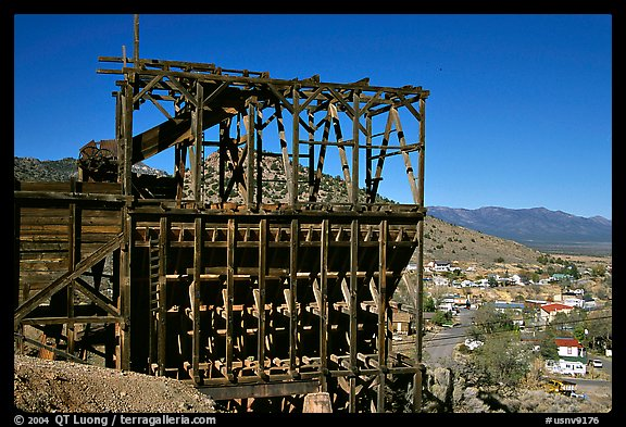 Old mining apparatus,  Pioche. Nevada, USA
