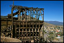 Old mining apparatus,  Pioche. Nevada, USA ( color)