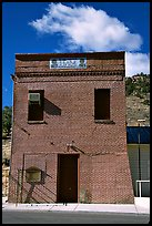 Old brick house, Pioche. Nevada, USA (color)