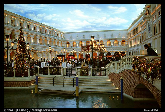 Interior of the Venetian casino. Las Vegas, Nevada, USA (color)